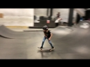Young female skateboarder showing off her skills