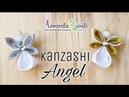 Kanzashi Angel 🌻 Angioletto con nastro di raso 🌻 Annarella Gioielli