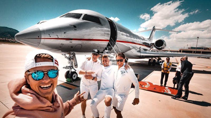 MY CRAZY BACHELOR PARTY! ($60 000 000 PRIVATE JET) | VLOG³ 06