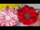 Flor cetim com organza sem molde Fita 38mm n 9