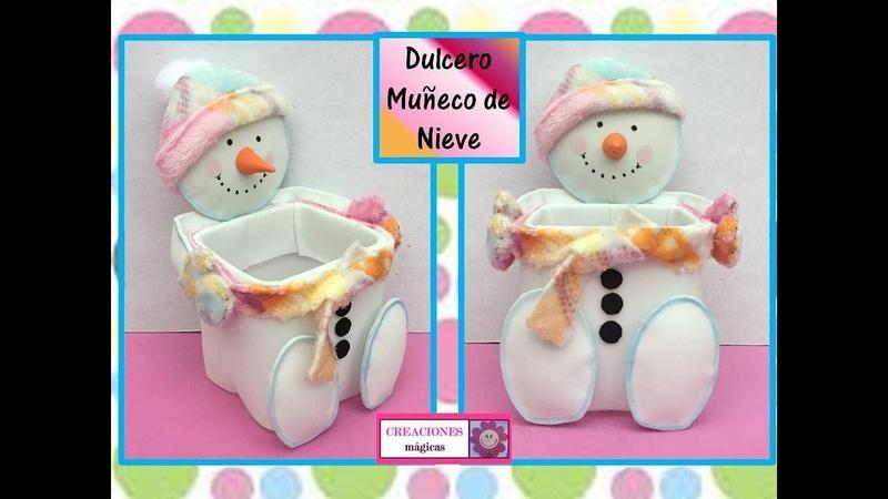 ♥♥Tutorial navideño No. 3♥ dulcero muñeco de nieve♥ Creaciones mágicas♥♥