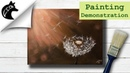 Acrylic Painting Demonstration Dandelion