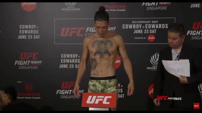 Взвешивание: Петр Ян - Теруто Ишихара Fight Night Singapore: Official Weigh-ins