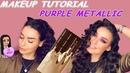 TUTORIAL PURPLE METALLIC BY TOO FACED CHOCOLATE GOLD