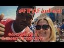 FIFANFEST Фан зона FiFA в Санкт Петербурге Болельщики матч настроение