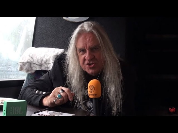 Saxon Interview Biff Byford @ Nummirock 22 6 2018