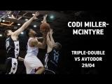 Codi Miller-McIntyre Triple-Double vs Avtodor - 16 pts, 16 ast  10 reb!