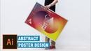 Abstract poster creative geometric Poster design illustrator tutorial