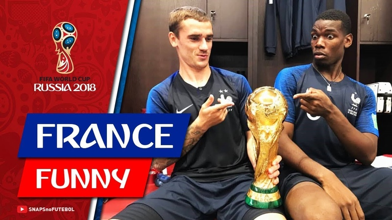 France: BEST Funny Moments 1 After France 4 x 2 Croatia (World Cup)