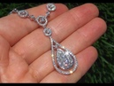 ONE OF A KIND 3 52 Carat Diamond Cocktail Necklace Solid 14K Gold