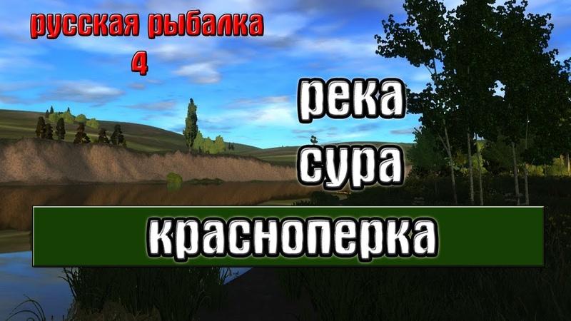 Русская рыбалка 4(рр4) - река Сура. Красноперка