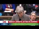Тереза Мэй объясняет британским парламентариям, почему она категорически против идеи повторного референдума о выходе страны из Е