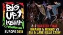 BIG UP KEMP EUROPE 2018 - BATTLE 2vs2 1/4 - InnaHot Morris win vs Ria Jane Killa Crew
