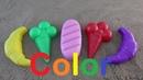 Лепим цветные куличики из песка изучаем цвета на английском для детей песочница