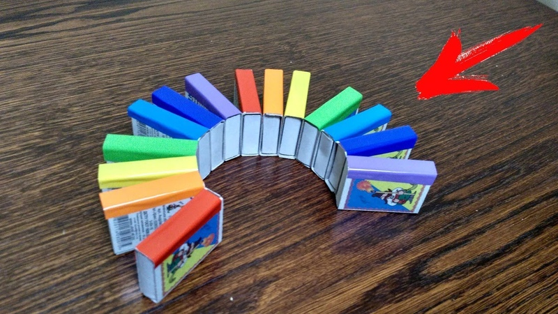 Rainbow TOY from a Matchbox for Kids. DIY Rainbow Spiral Spring