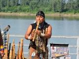 Выступление индейцев, на Фестивале Шляп в Вятских Полянах. 5 августа 2018 год.