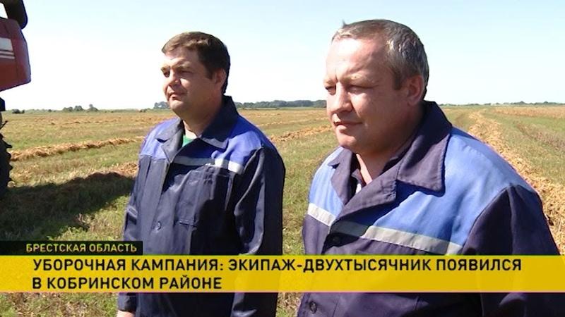 Одноклассники Юрий Сидорук и Вадим Левчук намолотили 2 тысячи тонн зерна