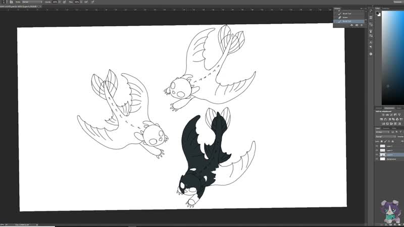 HOW TO DRAW_ Baby Night Lights Fury Dragons How To Train Your Dragon 3 Fan Art Friday