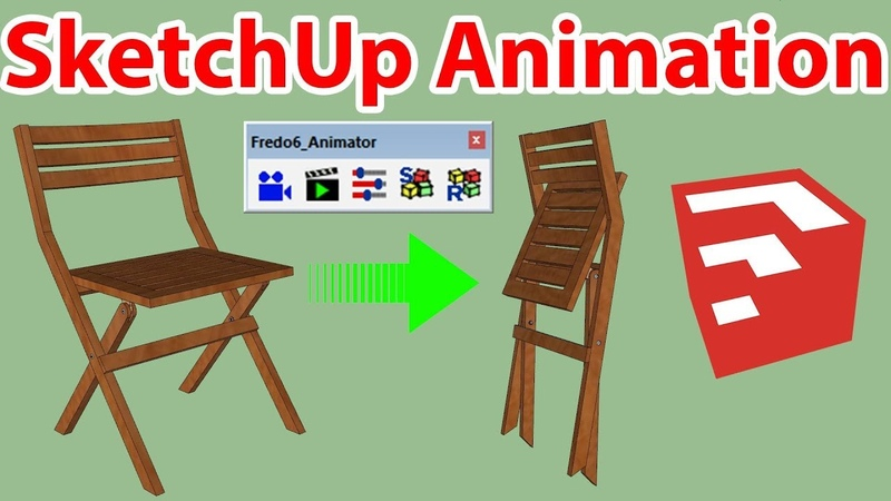 Folding Chair Animation In SketchUp