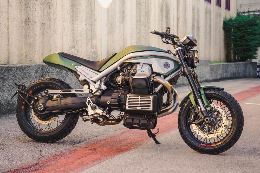 Officine Rossopuro: кастом Moto Guzzi Griso Viridium
