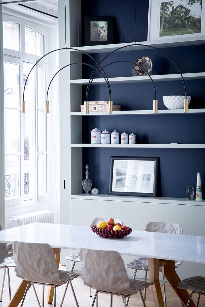 Парижские апартаменты в оттенках синего от Veronique Cotrel