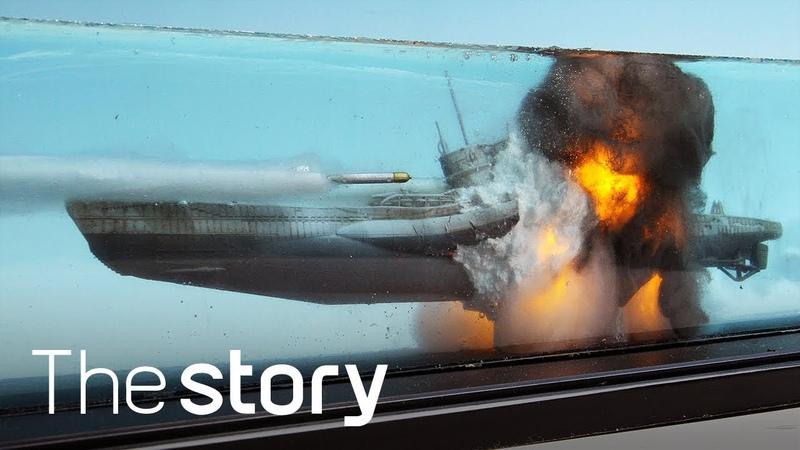 디오라마 장인의 '미친' 표현력 잠수함 U boat 이 폭발한다 함선 디오라마 제