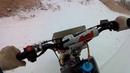 Первая вылазка на лёд на питбайке Kayo
