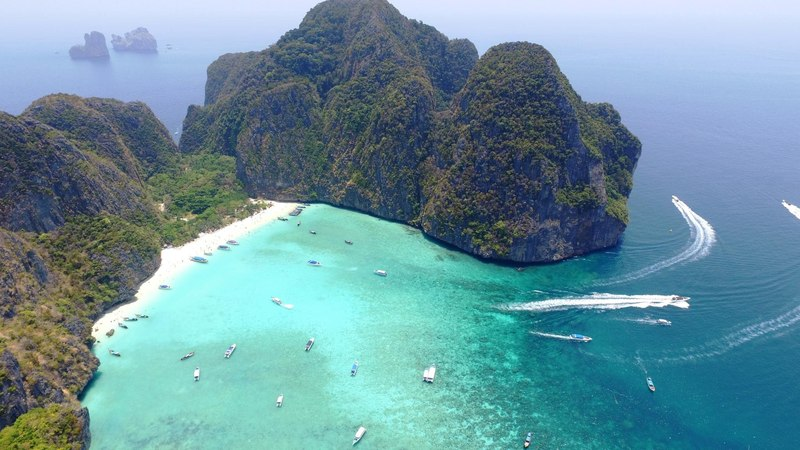Ko Phi Phi Islands, Thailand in 4K Drone, Music Video Remixed