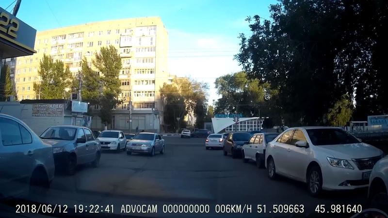 ДТП Саратов, перекресток Чернышевского и Верхняя (возле Би-Би) 12.06.2018