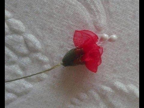 Organze Kurdele oyalarıKARANFİL ÇİÇEĞİ Forex flower,health flower, summer flower ,holiday flower