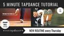 Cramp Roll Tap dance Tutorial 47th video 5 minutes