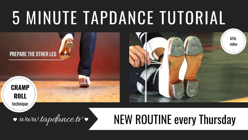 Cramp Roll - Tap dance Tutorial - 47th video - 5 minutes