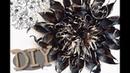 Огромный цветок для фотозоны из 1 рулона гофрированной бумаги🖤 DIY🖤 чёрный цветок с золотом😍