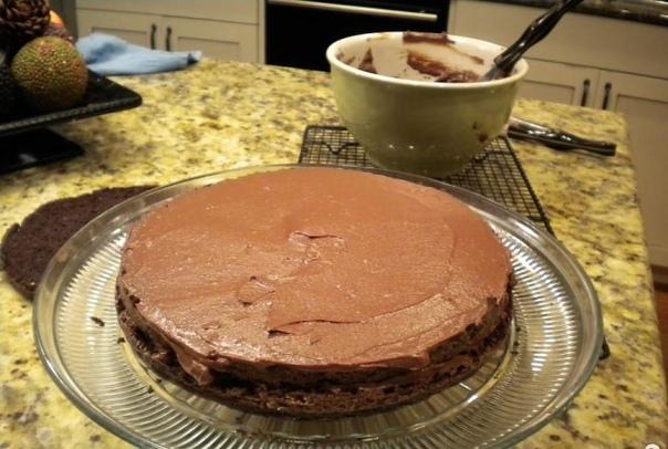 Шоколадный торт Черная вуаль