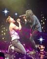 Dan singing Thunder with K. Flay