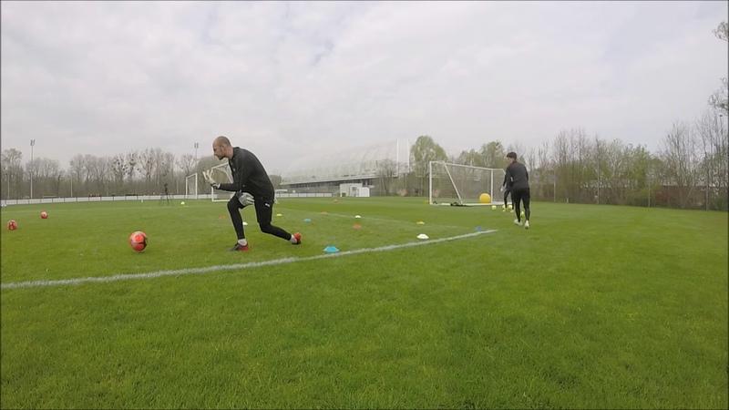 Goalkeepers training entraînement gardiens de but