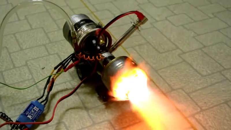 Турбореактивный двигатель из консервной банки