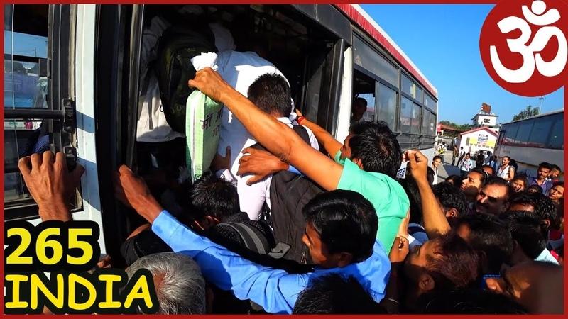 INDIA Экзотика - индийский авобус. Едем в Гималаи. Dehradun и Mussoorie