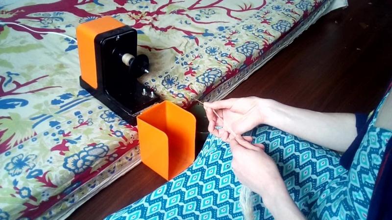 прядение крапивы на электропрялке