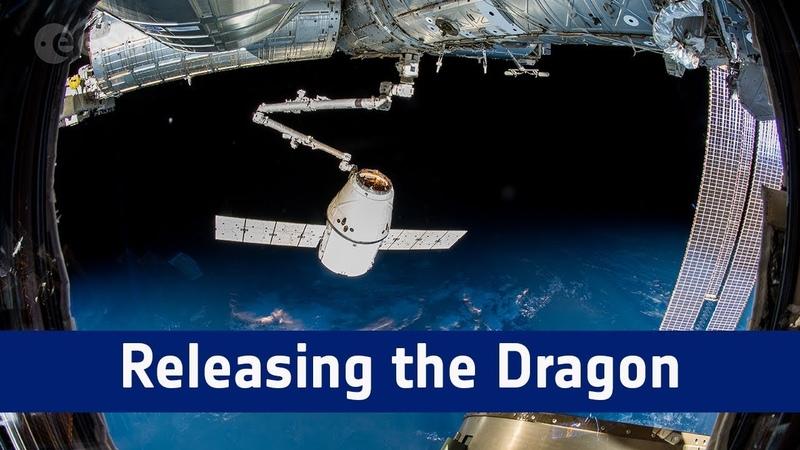 Отстыковка корабля снабжения Dragon (миссия CRS-15)