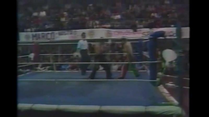 1990 е годы Бой за звание чемпиона по версии WAKO Марко Лоруссо Италия Тенгиз Аджикаримов Россия 1 9 раунды