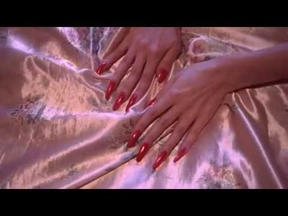 Inspiration of silk staing home with my long red nails