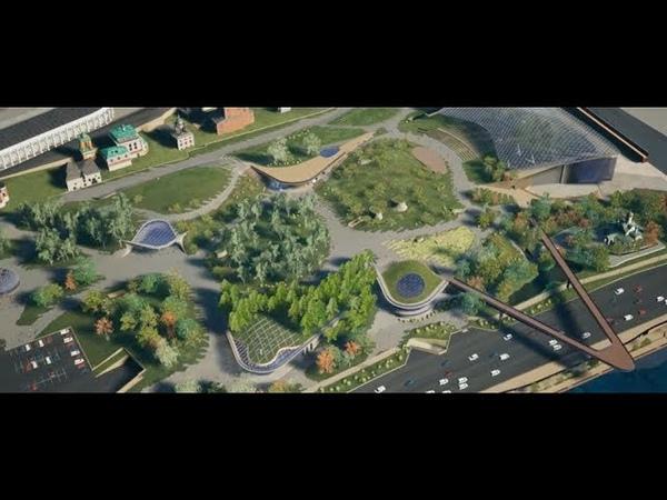Motion design ролик Облет Парка Зарядье