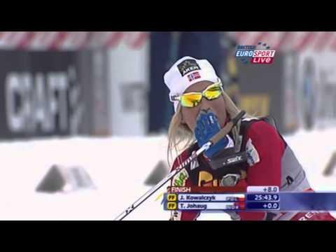 Biegi narciarskie - 12.03.11 - Bieg łączony 2x5 km kobiet - komentarz angielski - part 3