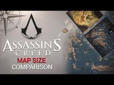 Assassin's Creed All Maps SIZE Comparison ( AC3 AC4 ACOdyssey)
