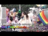 Ukrainische, rechtsradikale C14-Gruppe stören Gay-Pride-Parade (Würde sowas nicht stattfinden, keine Polizei und kein Stress)