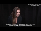 MY FIRST AUDITION_ ELIZABETH OLSEN #ElizabethOlsen remembers going into a trance over tennis shoes Rus Sub