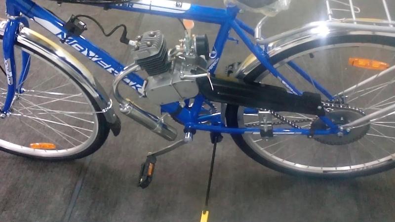 Велосипед с мотором F-80 (веломопед) от benzomotovelos.ru