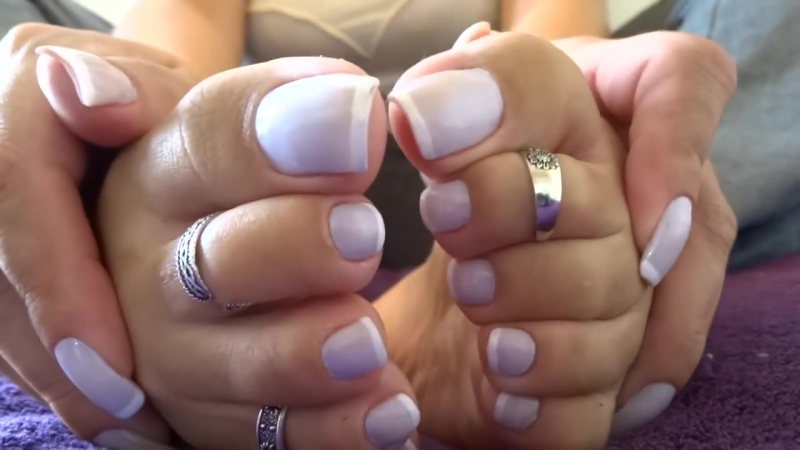 Hands and feet French nails