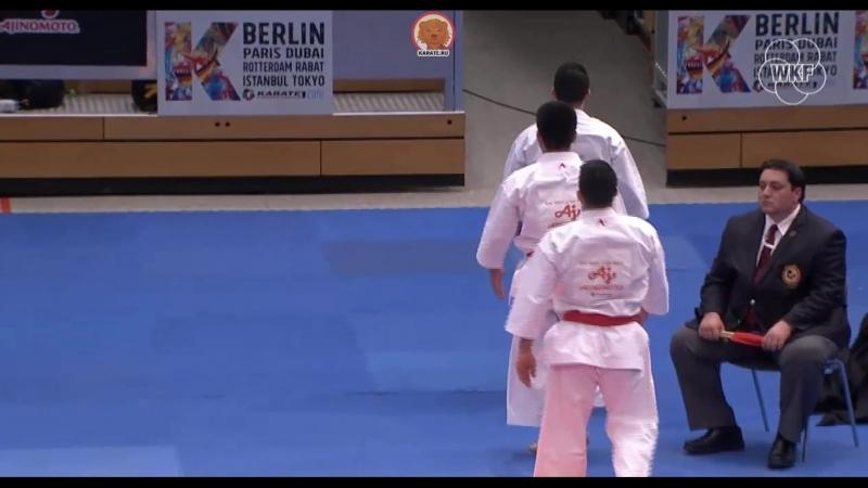 Командное мужское ката. Финал German Open 2018: WKF1 - Испания.